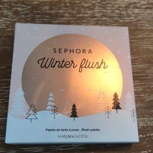 "Sephora "" winter flush"" blush palette"